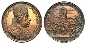 Papal, Clemente XI (1700-1721). Æ Medal ...