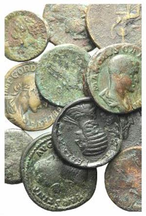 Lot of 16 Greek (2), Roman Imperial (13) and ...