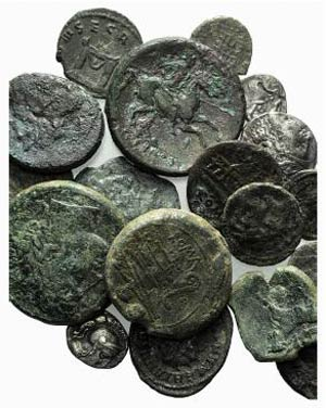 Lot of 21 Greek (12), Roman Republican (4) ...