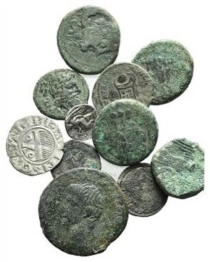 Lot of 11 Greek (6), Roman Imperial (4) and ...