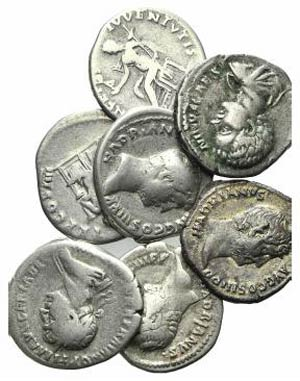 Lot of 3 AR Roman Imperial Denarii, ...