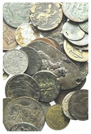 Lot of 49 mixed Roman and Modern coins and ...