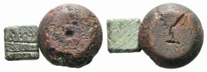 Lot of 2 Early Medieval Æ Weights, to be ...