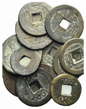 China, Qing dynasty, lot of 15 Æ coins, to ...