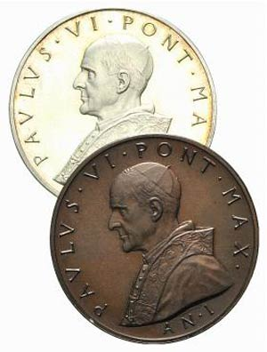 Papal, Paolo VI (1963-1978), lot of 2 ...