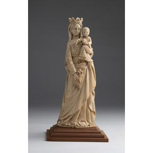 Virgin and Child. A carved ivory figural ...