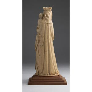 Virgin and Child. A carved ivory ...