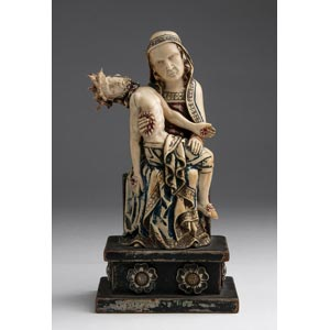Pietà. A carved ivory figure of Mary ...