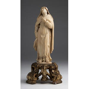 Saint Therese of Avila. A carved ivory ...