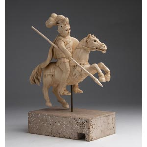 Saint George. A carved ivory equestrian ...