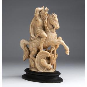 San Giorgio e il Drago. Scultura equestre ...