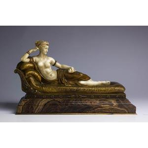 Paolina Bonaparte. Scultura in bronzo ...