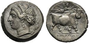 Campania, Didramma, Napoli, c. 275-250 a.C.; ...