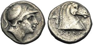 Emissione anonima, Didracma, Roma, 241-235 ...