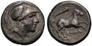 Emissione anonima, Didracma, Roma, 230-226 ...