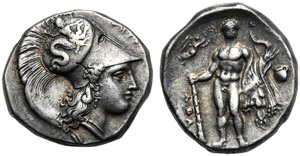 Lucania, Statere, Eraclea, c. 340-330 a.C.; ...