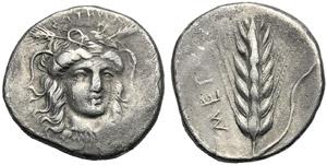 Lucania, Nomos, Metaponto, c. 400-340 a.C.; ...