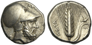 Lucania, Statere, Metaponto, c. 340-330 ...