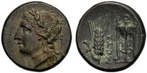 Lucania, Bronzo, Metaponto, c. 300-250 a.C.; ...