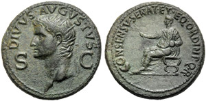 Divo Augusto (Gaio, 37-41), Dupondio, Roma, ...