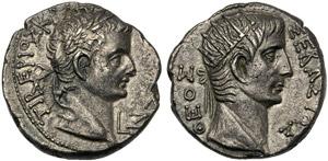 Tiberio (14-37), Tetradracma, Egitto: ...