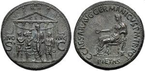 Gaio, detto Caligola (37-41), Sesterzio, ...
