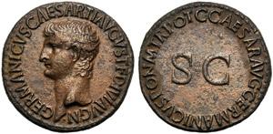Germanico (Gaio, 37-41), Asse, Roma, 37-38 ...