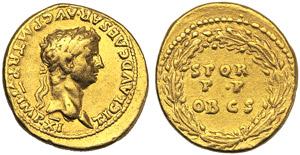 Claudio (41-54), Aureo, Roma, 46-47 d.C.; AV ...