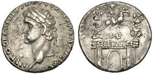 Druso Maggiore (Claudio, 41-54), Denario ...