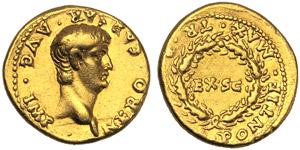 Nerone (54-68), Aureo, Roma, c. 55-61 d.C.; ...