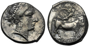 Campania, Didramma, Cuma, c. 325-300 a.C.; ...