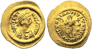 Giustino I (518-527), Tremisse, ...