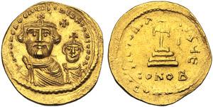 Eraclio con Eraclio Costantino (610-641), ...