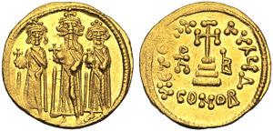 Eraclio (610-41), Solido, Costantinopoli, c. ...