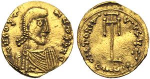 Costantino IV (668-685), Tremisse, Siracusa, ...