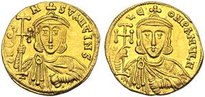 Costantino V (741-775), Solido, ...