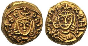 Michele II con Teofilo (820-829), Solido, ...