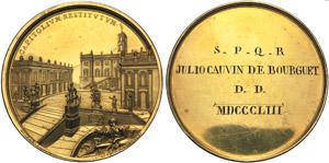 Italia, Roma, Medaglia per  il restauro ...