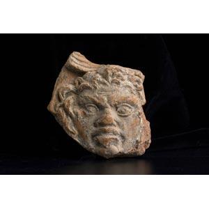 Antefissa romana con testa di Sileno I ...