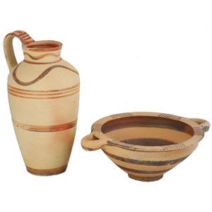 Coppia di vasi campani 700 – 650 a.C.; ...