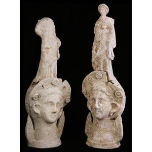 Due vasi plastici canosini III secolo a.C.; ...