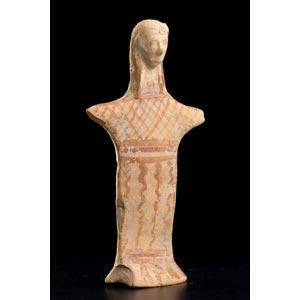 Dea beotica stante Metà del VI secolo a.C.; ...