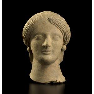 Elegante ritratto femminile Magna Grecia, ...