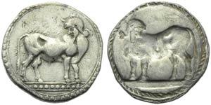 Bruttium, Laos, Stater, c. 510-500 BC; AR (g ...