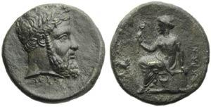 Bruttium, Lokroi Epizephyrioi, Nomos, c. 350 ...