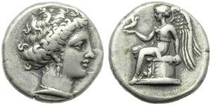 Bruttium, Terina, Stater, c. 400-356 a.C.; ...