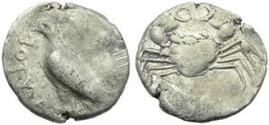 Sicily, Akragas, Didrachm, c. 510-500 BC; AR ...