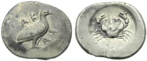 Sicily, Akragas Didrachm, c. 480-470 BC; AR ...