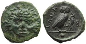Sicily, Kamarina, Onkia, c. 420-405 BC; AE ...
