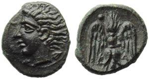 Sicily, Katane, Onkia, c. 405-402 BC; AE (g ...